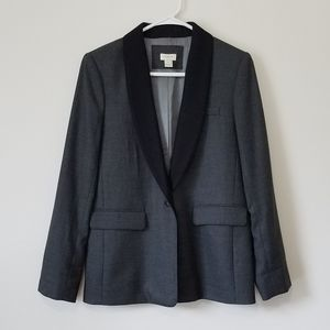 J. Crew Grey Tuxedo Blazer